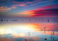 Benbrook, lever de soleil de lac de TX images libres de droits
