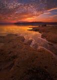 Benbrook solnedgång för Lakevinter Royaltyfria Bilder