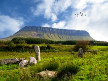 Benbulben, Dartry山, Co 斯莱戈 库存图片
