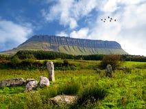 Benbulben, montanhas de Dartry, Co Sligo imagem de stock