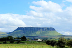 Benbulbin, County Sligo, Ireland. Benbulbin large rock formation in County Sligo, Ireland stock photo