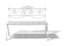 bench белизна иллюстрация вектора