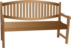 bench проиллюстрированное деревянное Стоковое Фото