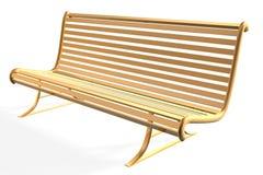 Bench. 3d golden bench of park Stock Photo