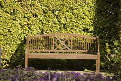 Bench. Seat in the park at sunny day Royalty Free Stock Photography