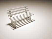 Bench. 3d render illustration of a bench Royalty Free Stock Photos