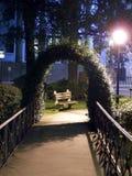 Bench. At night royalty free stock photos