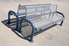 Bench. Blue bench Stock Photo