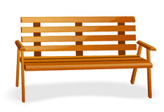 Bench. Isolated on a white background Royalty Free Stock Photography