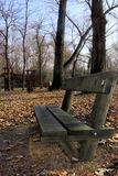 Bench. In a autumn landscape Stock Photos