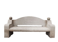 Bench. Isolated cement bench on white background Royalty Free Stock Photo