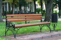 Bench. The image of bench on the boulevard Stock Photos