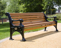 Bench. Photo of the bench on the in the street Royalty Free Stock Photography