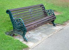Bench. In a park royalty free stock image