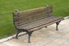 Bench. Empty bench in a public park Stock Photos