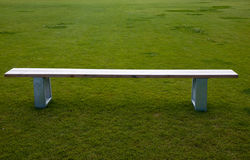 Bench. On a football pitch Royalty Free Stock Photo