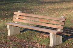 Bench. Park bench Stock Photography