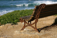 Bench. Old Bench near the sea Royalty Free Stock Photos