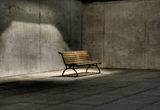 Bench. In Berlin city at night lighting Stock Photography