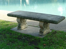 Bench. At poolside Royalty Free Stock Photography