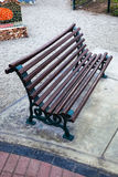 Bench in the alley Royalty Free Stock Images