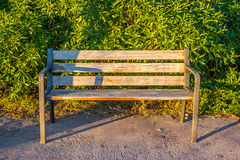 Bench alone. Of wood and iron on the park Royalty Free Stock Image