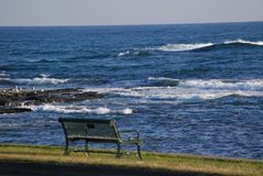 The bench along the Atlantic Stock Photos
