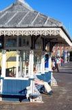 Bench along Esplanade, Weymouth. Stock Image
