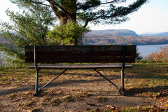 The Bench Along the Hudson River Royalty Free Stock Images