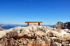 Bench on the Alps 4 Stock Images