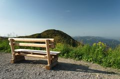 Bench in the Alps Stock Images