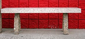 Bench And Red Brick Stock Photography