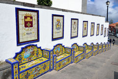 Bench from Andalusian tiles Royalty Free Stock Photography
