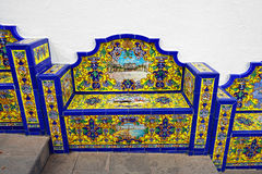 Bench from Andalusian tiles Stock Photography