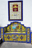 Bench from Andalusian tiles Royalty Free Stock Images