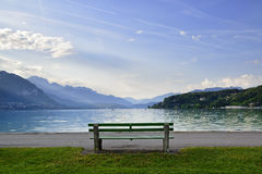 Bench in Annecy Royalty Free Stock Images