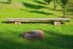 Bench in a apark Royalty Free Stock Photography