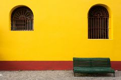 Bench asymmetry in Buenos Aires stock image
