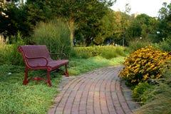Bench At A Park Royalty Free Stock Photos