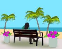 Free Bench At The Beach. Royalty Free Stock Photos - 29940858