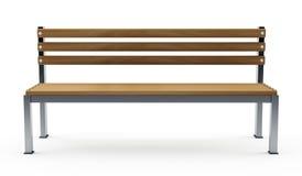 Bench auf Weiß Stockfoto