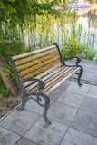 Bench in a autumn park Stock Image
