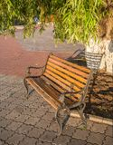 Bench in a autumn park Royalty Free Stock Photography