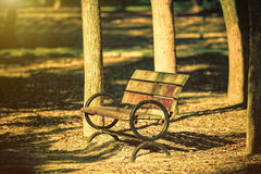 Bench in the autumn park Royalty Free Stock Photo