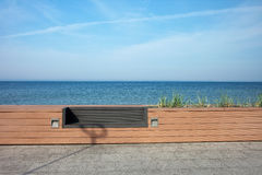 Bench at Baltic Sea Promenade in Hel Stock Photo