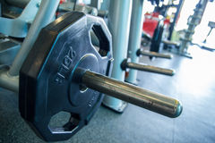 Bench bar and weight plate Royalty Free Stock Photography