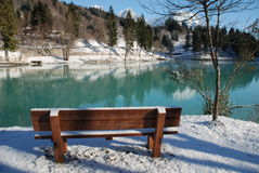 Bench at Barcis Stock Images