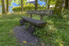 Bench in Bavaria, Germany Royalty Free Stock Photos