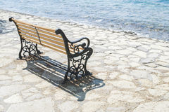 Bench on the beach Royalty Free Stock Photos