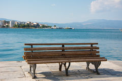 Bench in the beach Royalty Free Stock Image